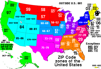 US zip codes