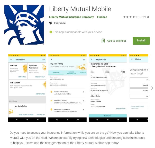 Liberty Mutual Insurance Mobile App